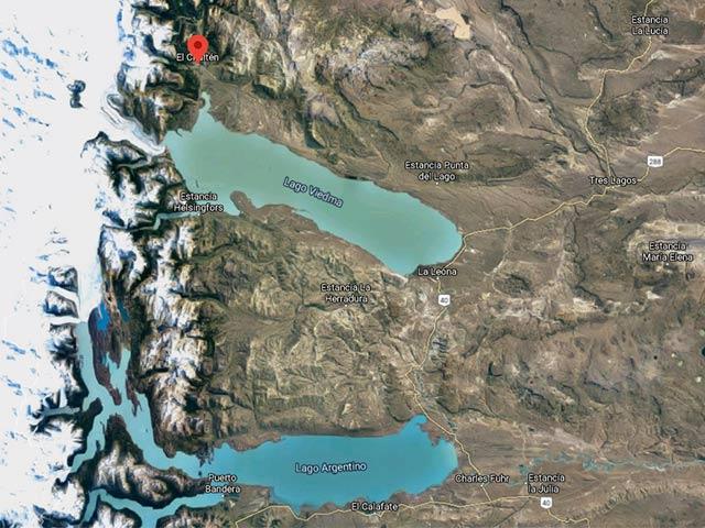 Mappa di El Chalten